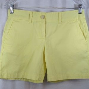 Ann Taylor LOFT Yellow 100% Cotton Shorts 0
